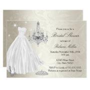Pretty Wedding Dress Bridal Shower Cream White
