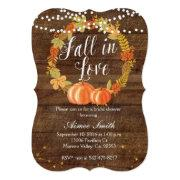 Pumpkin Bridal Shower Invitation