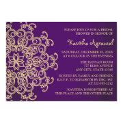 Purple And Gold Indian Inspired Bridal Shower