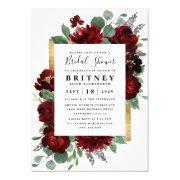 Purple And Gray Silver Watercolor Bridal Shower Invitation