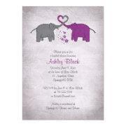 Purple And Grey Elephant Bridal Shower