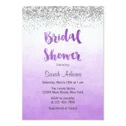 Purple And Silver Bridal Shower