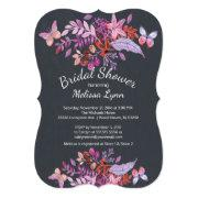 Purple Butterfly Floral Fall Bridal Shower