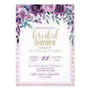 Purple Floral Champagne Bridal Shower