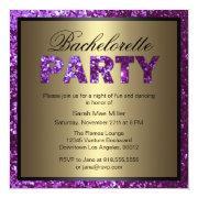 Purple Glitter Bachelorette Party