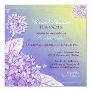 Purple Hydrangeas Bridal Shower Tea Party