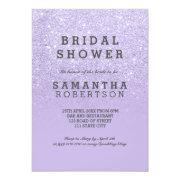 Purple Lavender Faux Glitter Bridal Shower