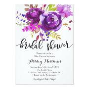 Purple Lavender Floral Bridal Shower