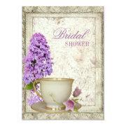 Purple Lilac Bridal Shower Tea Party