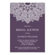 Purple Mandala Bridal Shower Invitations
