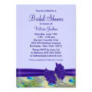 Purple Peacock Bridal Shower