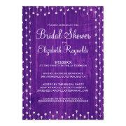 Purple Rustic Country Bridal Shower Invitations Custom Invite