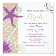 Purple Starfish Beach Bridal Shower