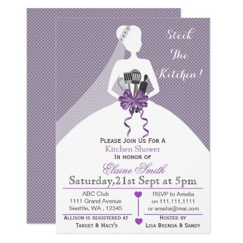 Purple Stock The Kitchen Bridal Shower Invite