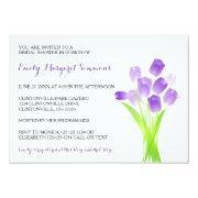 Purple Tulips - Bridal Shower Invitation