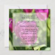 Purple Tulips Bridal Shower Invitations
