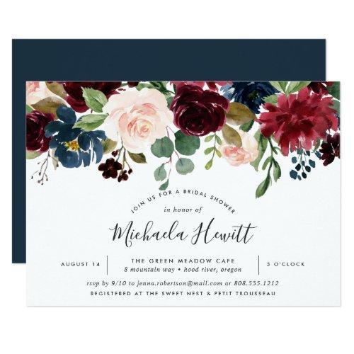 Radiant Bloom Bridal Shower Invitations
