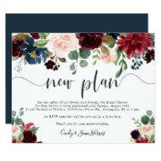 Radiant Bloom Bridal Shower Postponement Invitations
