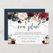Radiant Bloom Bridal Shower Postponement Invitations
