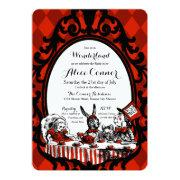 Red Alice In Wonderland Shower