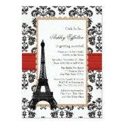 Red Eiffel Tower Parisian Bridal Shower