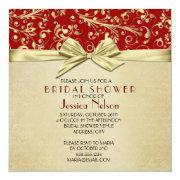 Red/gold Christmas Ribbon Damask Bridal Shower