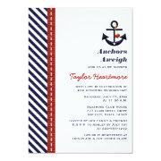 Red Navy Blue Nautical Bridal Shower
