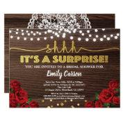 Red Rose Surprise Bridal Shower Invitation