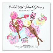Retro Girls Bachelorette Beach Weekend Invitation