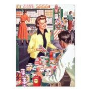 Retro Grocery Check-out Pantry Party Stock Kitchen Invitation