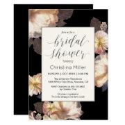 Rich Moody Floral Elegant Bridal Shower Invitation