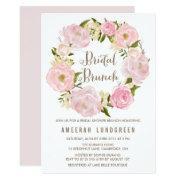 Romantic Peonies Wreath Bridal Brunch