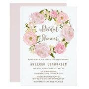 Romantic Peonies Wreath Bridal Shower