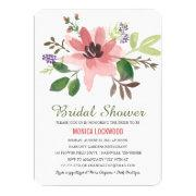 Romantic Watercolor Flowers | Bridal Shower Invitation