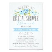 Rose Banner Brunch Bridal Shower Blue