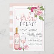 Rosé Garden   Bridal Brunch Invitation