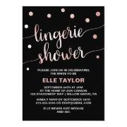 Rose Gold & Black Glam Confetti Lingerie Shower