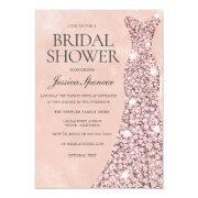Rose Gold & Blush Pink Bridal Shower Invitation