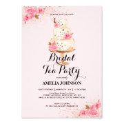 Rose Gold Cake Tea Party Bridal Shower