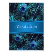 Royal Blue Purple Peacock Bridal Shower