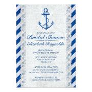 Rustic Anchor Nautical Bridal Shower