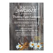 Rustic Barn Wood And Daisies Bridal Shower