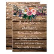 Rustic Barnwood Spring Wildflowers Bridal Shower