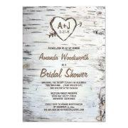 Winter bridal shower invitations funbridalshowerinvitations rustic birch tree bark bridal shower filmwisefo