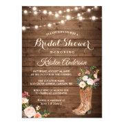 Rustic Boots Cowgirl Western Bridal Shower