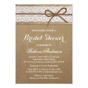 Rustic Bridal Shower Elegant Lace Burlap String