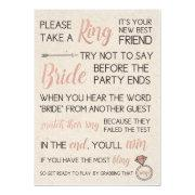 Rustic Bridal Shower Game- Pick A Ring