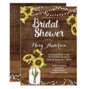 Rustic Bridal Shower  Sunflower