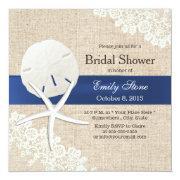 Rustic Burlap Sand Dollar & Starfish Bridal Shower