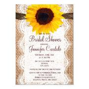 Rustic Burlap Sunflower Bridal Shower